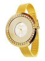 خرید ساعت زنانه دور نگینی دریم Dream طلایی